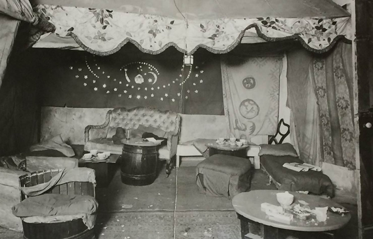 Image of a photograph of the interior of the Caravan Club (MEPO 3/758)