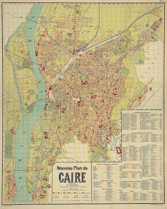 A city plan of Cairo from 1914 (catalogue reference MFQ 1/1379/59). This is a Foreign Office map, extracted from series FO 371 to be stored in series MFQ 1.